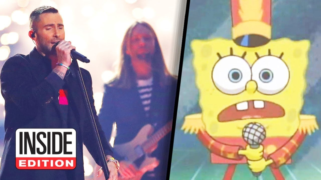 SpongeBob Appears in Super Bowl Halftime Show image