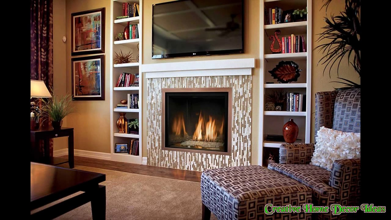 Electric Fireplace with TV Above Ideas - YouTube