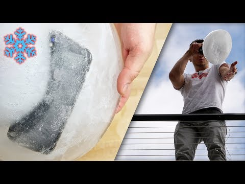 iPhone X Freeze Test! Frozen Solid Drop Test
