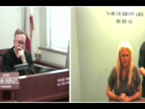 Woman flashes Florida judge while discussing her case