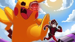 DEADPOOL GETS SQUISHED BY A GIANT PIKACHU?!?