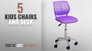 Top 10 Kids Chairs And Desk [2018]: GreenForest Furniture Mid Back Adjustable Home Office Children