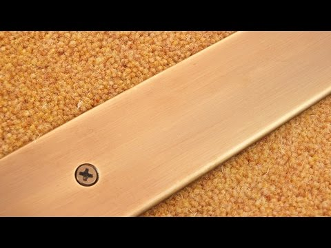 Fitting a Door Threshold. The Stairrods Cover carpet to carpet  sc 1 st  YouTube & Fitting a Door Threshold. The Stairrods Cover carpet to carpet - YouTube