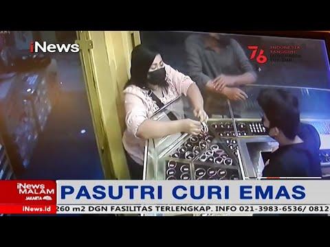 CCTV Rekam Aksi Pasutri Curi Gelang Emas Di Malang #iNewsMalam 04/08