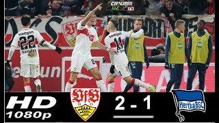 VfB Stuttgart vs Hertha Berlin 2-1 Bundesliga 15/12/2018 HD