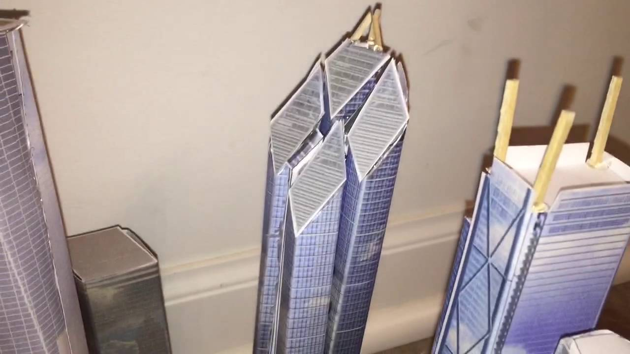 Papercraft My best World Trade Center site paper model I ever build!