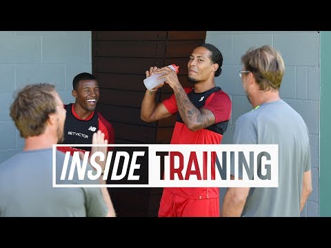 Inside Training: Van Djik & Wijnaldum cheered on by Klopp | Gruelling lactate test