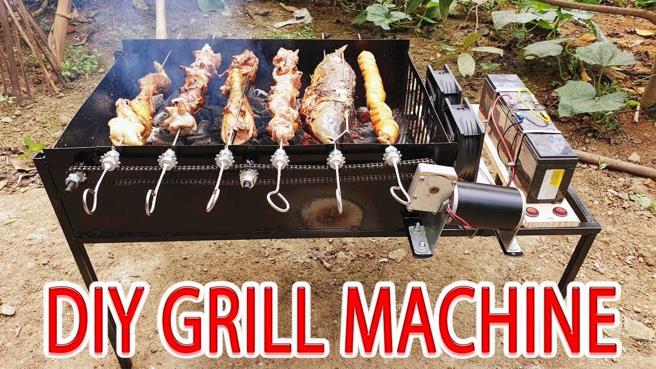 Build Grill Machine Bbq At Home