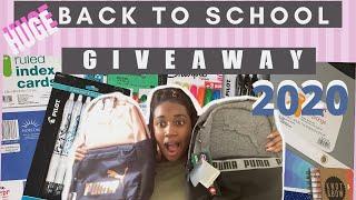 BACK TO SCHOOL SUPPLIES HAUL + GIVEAWAY 2020 | HUGE