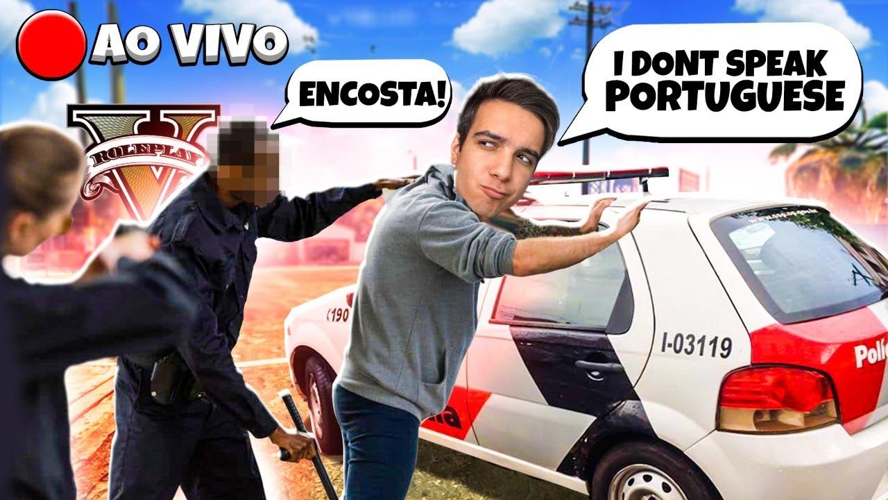 🔴 TROLLANDO GERAL FINGINDO SER GRINGO no GTA V RP 🔴