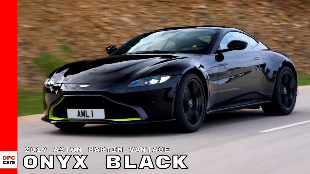 2019 Aston Martin Vantage Onyx Black Youtube
