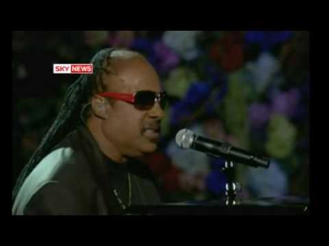Stevie Wonder Performs At Michael Jackson Memorial Concert