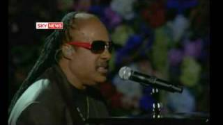 Stevie Wonder Performs At Michael Jackson Memorial Concert