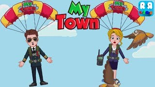 My Town : Airport - How to Use Parachute for Kids