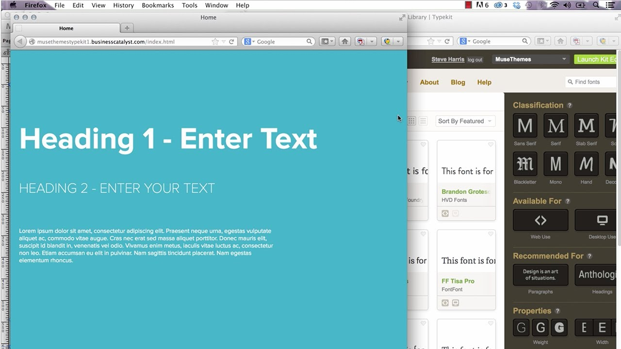 Adobe Muse Tech Tips | Using Full Typekit Fonts in Adobe Muse CC - Widget  by MuseThemes com