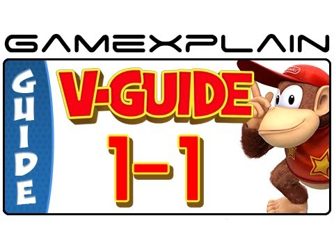 Donkey Kong Country: Tropical Freeze - Mangrove Cove 1-1 Puzzle Pieces & KONG Letters Guide