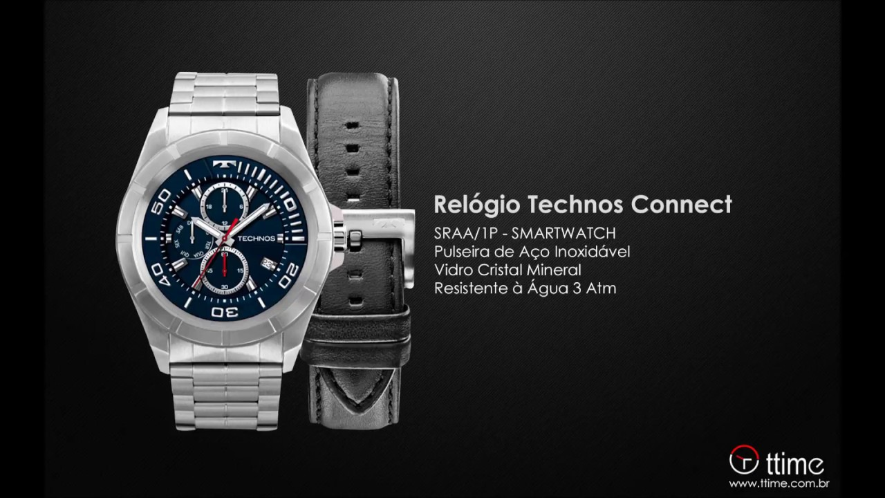 RELÓGIO TECHNOS CONNECT SRAA 1P - SMARTWATCH - YouTube 99f11c20e1