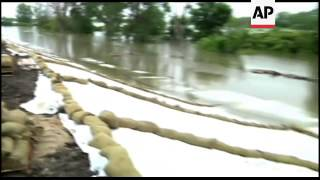 Water has seeped through a second levee built to protect the southwest Iowa town of Hamburg from flo