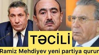 TƏCİLİ:Ramiz Mehdiyev yeni partiya yaradır-Partiyada kimlər var?