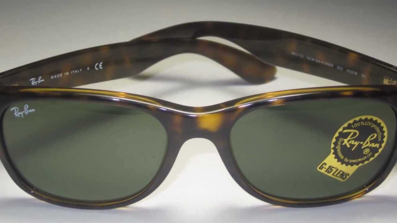 b8ce736a907 ... shopping ray ban rb2132 902 havana wayfarer sunglasses youtube e355b  8c9f4