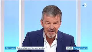 Port de Brétignolles sur Mer, vendée : ITV de Christophe Chabot, maire de la commune