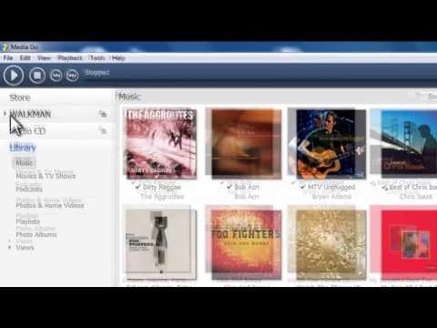 Sony Media Go - How to transfer music to Walkman, Xperia Phone, PSP, Vita