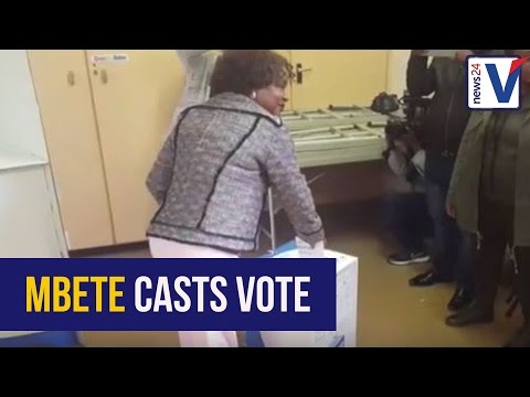 WATCH: Baleka Mbete turned away from special vote