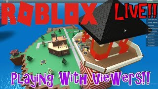 Roblox | Live stream #15 | Free Robux Giveaway! (DONE) | Playing with Viewers! |