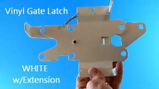 White Vinyl Gate Latch With Extension