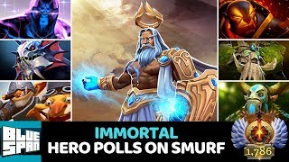 BLUE SPAN IMMORTAL HERO POLLS ON SMURF DOTA 2 STREAM
