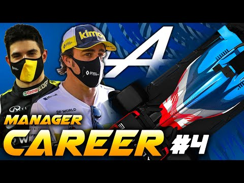 F1 2021 ALPINE MANAGER CAREER - TENSION BETWEEN TEAM-MATES! #4