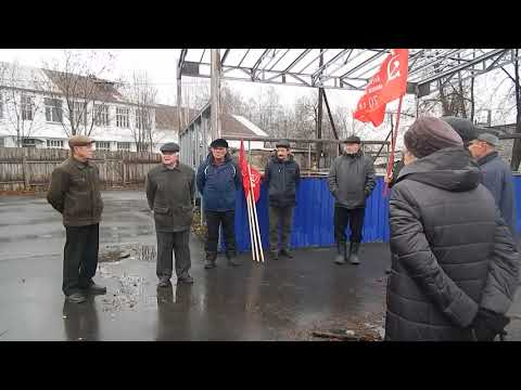 Омутнинск. Митинг 7 ноября 2018 года