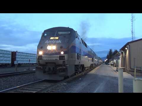 Amtrak's Empire Builder From Whitefish, MT To Essex, MT With Heritage Units And All