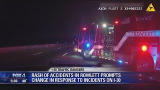 Rowlett police vehicle hit by DWI suspect 2nd time this month