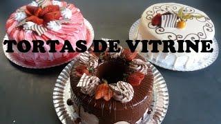 3 TORTAS DE VITRINE