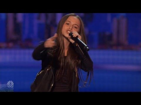 America's Got Talent 2016 Skylar Katz 11 Year Old Rapper Performs I'm Fresh Audition Clips S11E06