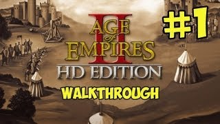 Age of Empires 2 HD Walkthrough - Part 1 A New Age Begins (NEW HD Version Gameplay)