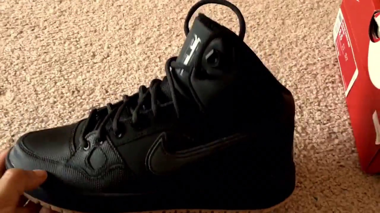 Nike Son of Force Mid Winter Black Unboxing | Walktall