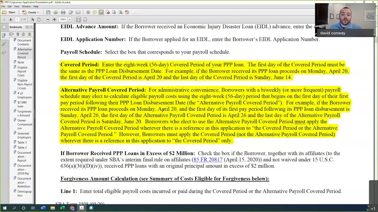 PPP Loan Forgiveness Application - YouTube