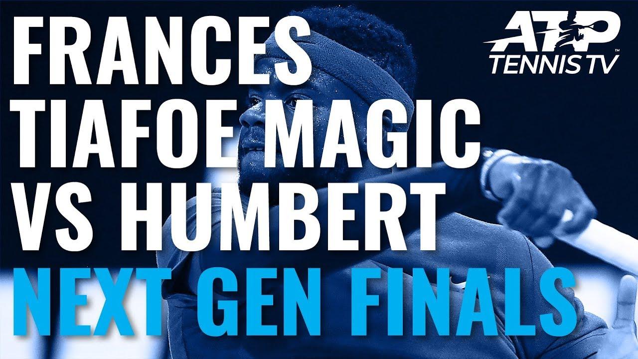 Frances Tiafoe Magic & Brilliant Match Point vs Humbert! | Next Gen Finals 2019