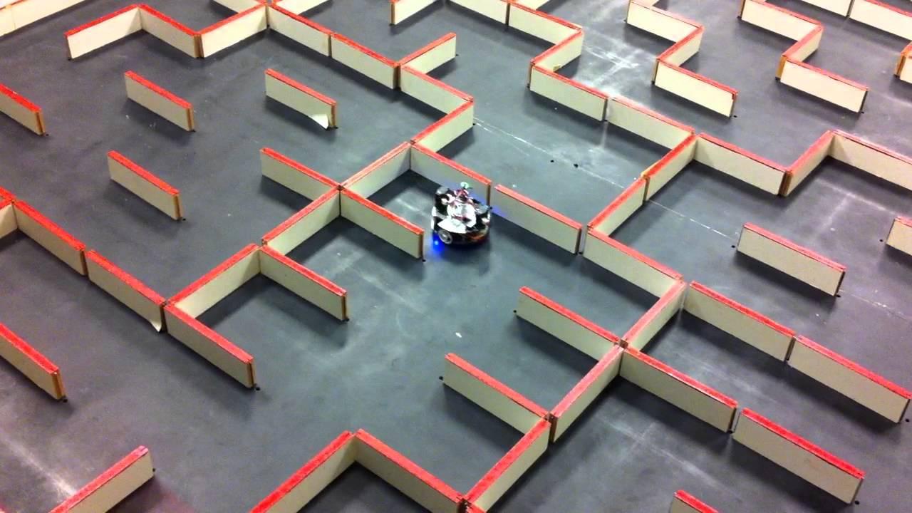 Maze Solving Robot Maze2 (Micromouse) - YouTube