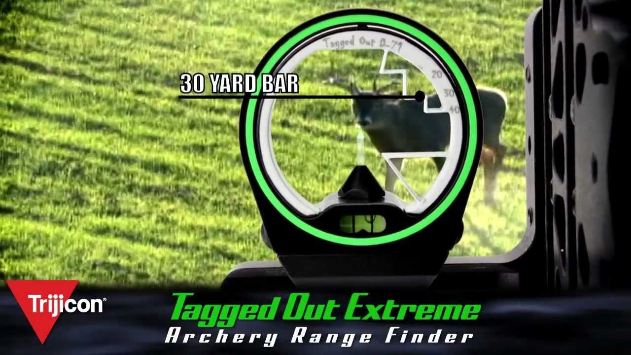 Trijicon with the Tagged Out Archery Range Finder - YouTube