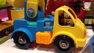 Unboxing Toys Review/demos - Wow Construction Baby Toy Truck With Crane Screws Pickup Cargo