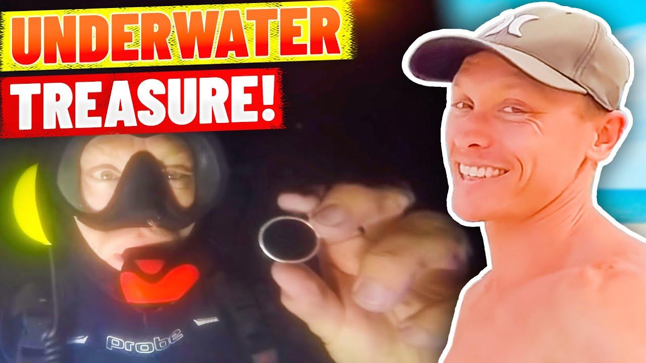 Finding GOLD in Underwater Night Dive and Battling Bondi Crowds! (Underwater metal detecting)