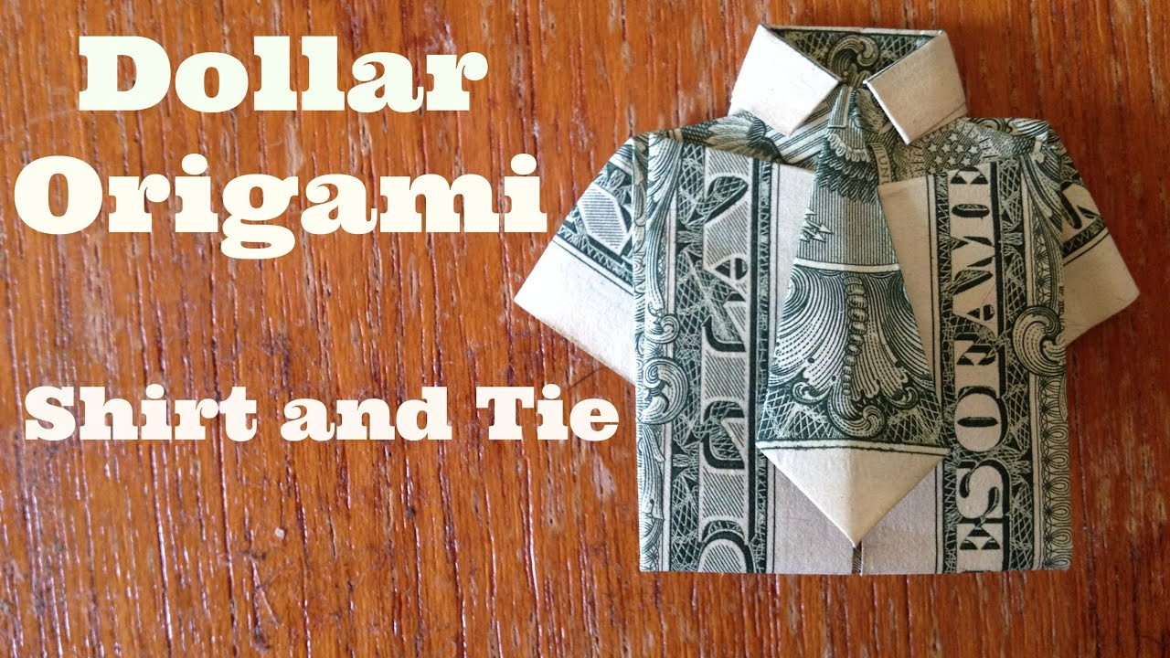 Dollar Bill Origami T-Shirt Father's Day Card - Crafty Morning | 720x1280