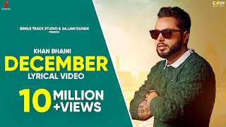 Khan Bhaini | December Lyrical Video | New Punjabi Songs | Latest Punjabi Song 2020 | Ditto Music