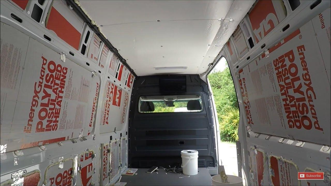 Sprinter Van Insulation Diy Custom Conversion Rv Youtube