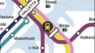 Malta Tube Map -- Cottonera To Sliema Centre