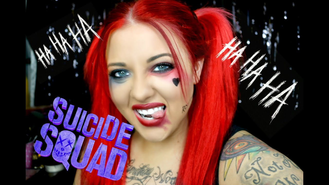 Harley Quinn Suicide Squad 2016 Makeup Tutorial - YouTube