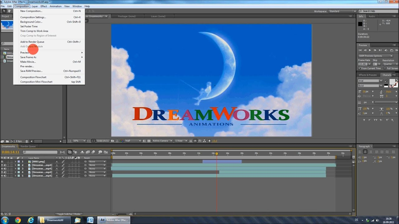 tutorial dreamworks intro hd youtube